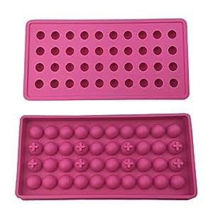 mydio 40 bandeja Mini bola de hielo moldes DIY moldes herramienta, Ideal para Candy Pudding Jelly leche jugo Chocolate moho o cócteles y partículas de ...