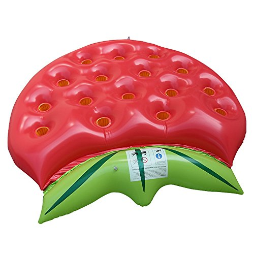 Fly New Inflatable Strawberry Floating Row Can Put Drink Water Glass Floating Bed Inflatable Floating Row by Fly (Image #4)
