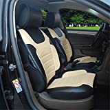 ProTech 180205S Black/Tan-2 Front Car Seat Cover Cushions...