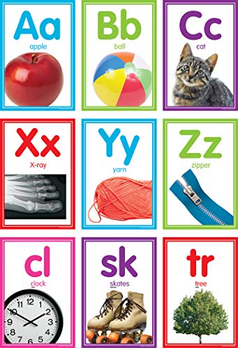 Colorful Photo Alphabet Cards Bulletin Board ()