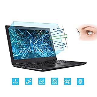 "2-Pack 15.6 Inch Laptop Screen Protector -Blue Light and Anti Glare Filter, FORITO Eye Protection Blue Light Blocking & Anti Glare Screen Protector for 15.6"" with 16:9 Aspect Ratio Laptop"