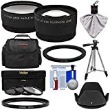 Precision Design FA-DC67A Adapter Ring (67mm) with Tele/Wide Lenses + 3 Filters + Case + Hood + Kit for Canon PowerShot SX530, SX540 & SX60 HS Camera
