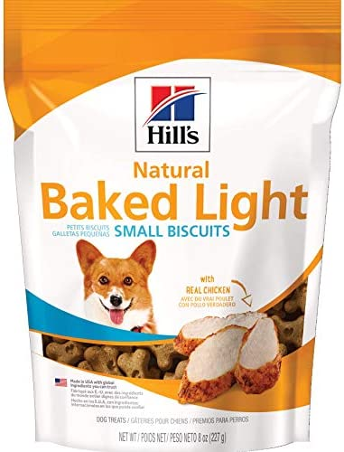 Hill s Dog Treats Baked Light Dog Biscuits with Real Chicken for Small Dog, Healthy Dog Snacks, 8 oz Bag