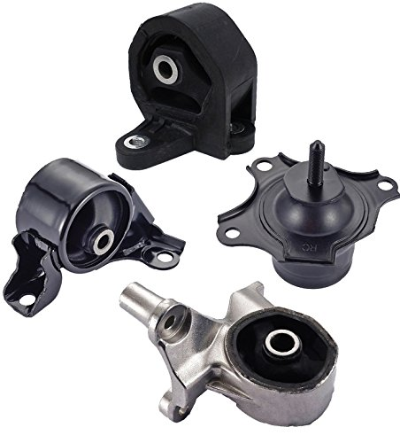 2002 Honda Civic 2 Door (Engine Motor and Trans Mount Set of 4 for 2001-2005 Honda Civic Coupe 2-Door 1.7L with Manual Transmission)