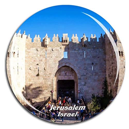 Damascus Gate Jerusalem Israel Fridge Magnet 3D Crystal Glass Tourist City Travel Souvenir Collection Gift Strong Refrigerator Sticker