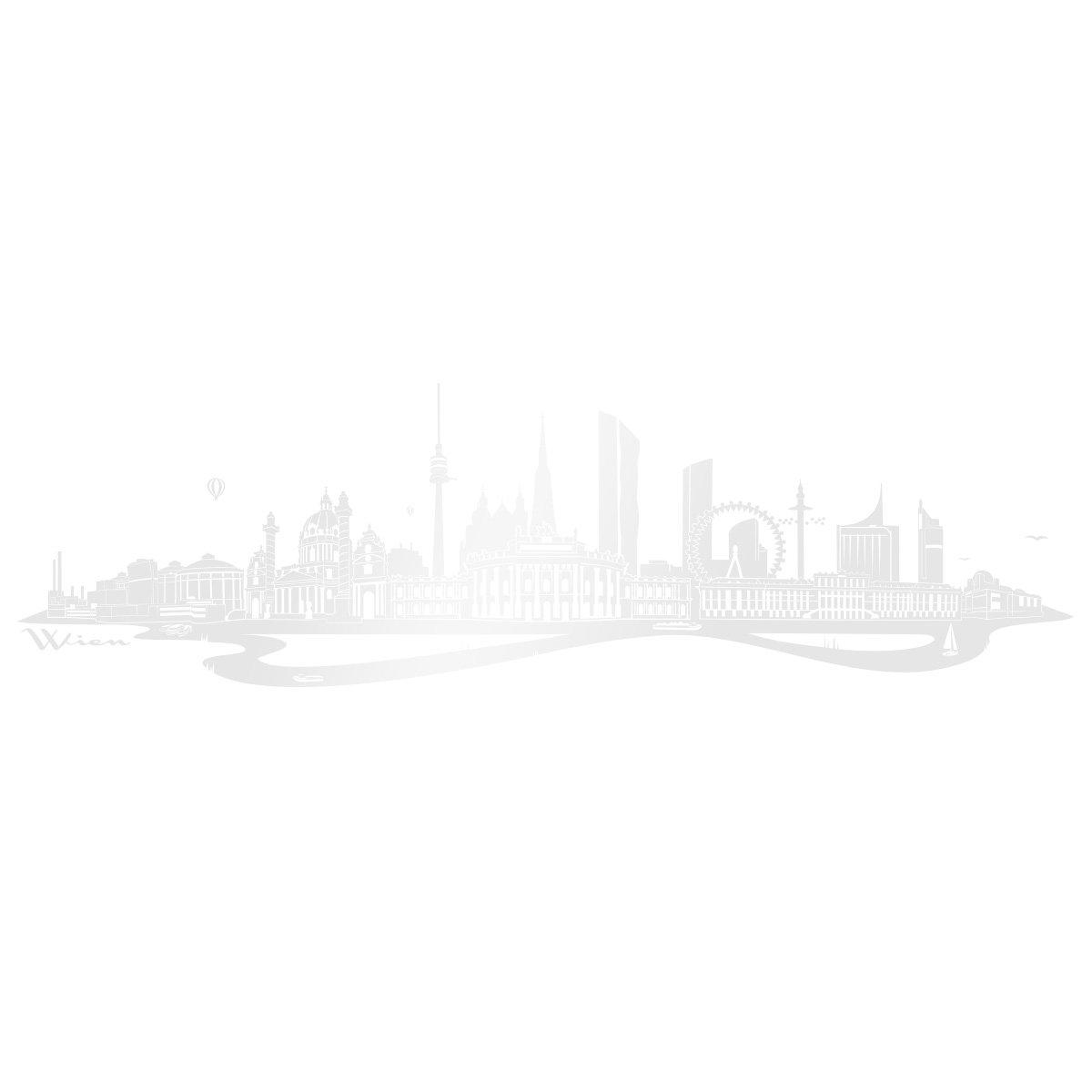 WANDKINGS Wandtattoo - Skyline Wien (mit Fluss) Fluss) Fluss) - 300 x 86 cm - Mittelgrau - Wähle aus 6 Größen & 35 Farben B078SFLYQ1 Wandtattoos & Wandbilder f34d9e