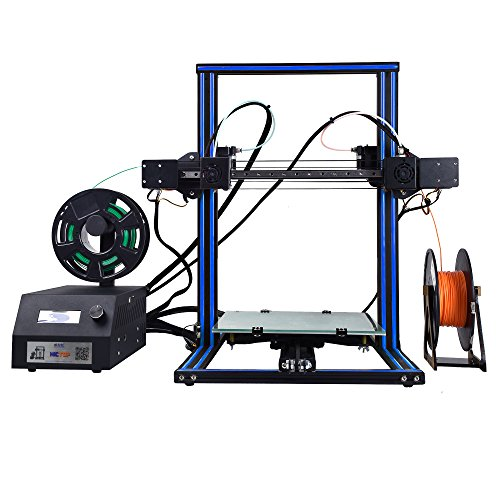 HICTOP DUALE 3 Independent Dual Extruder 3D Printer - Prusa I3 Desktop 3D Printer Print Size 300x300x400mm