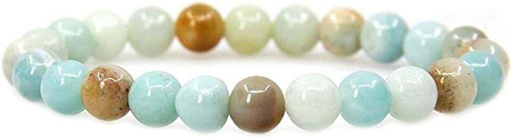 TrifyCore Cuentas de Piedras Preciosas Naturales de la Piedra Preciosa Amazonite Strand para DIY Joyería 38CM * 6MM