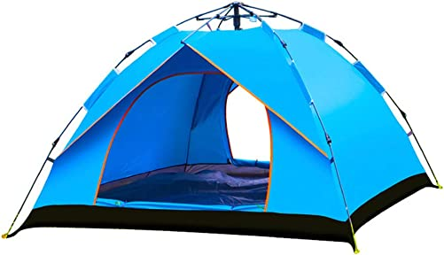 Outdoor Family Friends 3-4 Person Hydraulic Spring Stand System Automatic Instant Waterproof Camping Backpacking Tent
