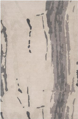 Candice Olson by Surya Modern Classics CAN-1994 Contemporary Hand Tufted 100% New Zealand Wool Ivory 2'6'' x 8' Abstract Runner