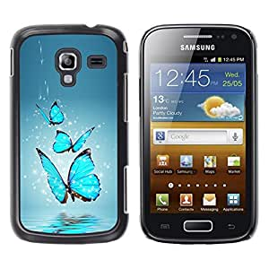 Design for Girls Plastic Cover Case FOR Samsung Galaxy Ace 2 Blue Butterfly Water Splash OBBA