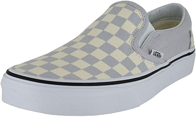 gray dawn and true white checkered vans