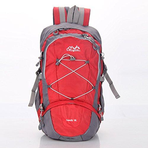LINGE-Suben bolsas deportes al aire libre de gran capacidad los hombres y las mujeres bolso protector de lluvia , red Red