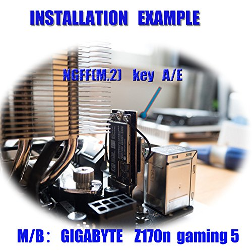 BCM94360CS2/HLT BCM943224PCIEBT2 Card To NGFF(M.2) Key A/E Adapter For Mac OS by HLT (Image #4)