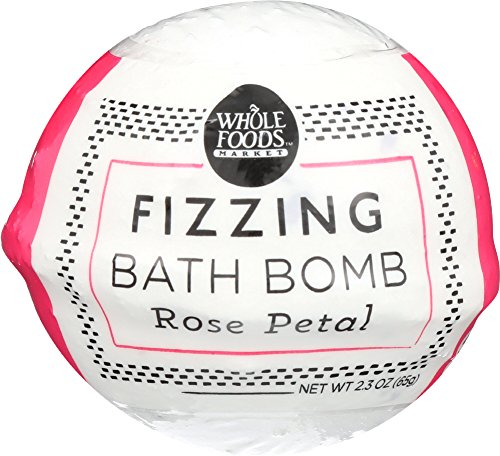 Whole Foods Market, Rose Petal Fizzing Bath Bomb, 2.3 Ounce