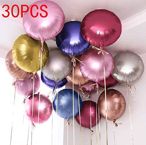 (30pcs/lot Hear Shape Foil Mylar Helium Balloon 18