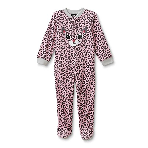 Joe Boxer Infant & Toddler Girls' Footed Sleeper Pajamas - Leopard 12 Months