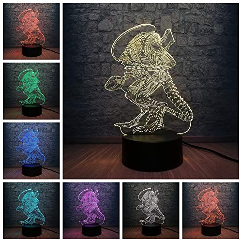 3D Led Usb Lampe 7 Farben, Die Nachtlicht Ändern Cool Boy Toy Design Gift