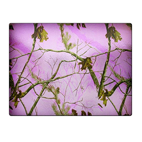 Camo Pink Tree - Glass Cutting Board