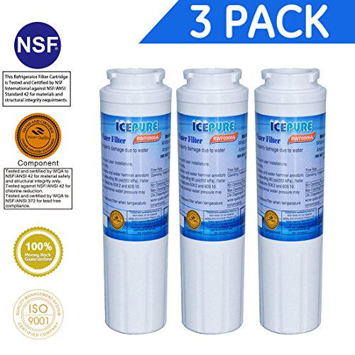 Icepure RWF0900A 3PACK Refrigerator Water Filter Compatible with Maytag UKF8001 ,WHIRLPOOL 4396395 ,EveryDrop EDR4RXD1,Filter 4