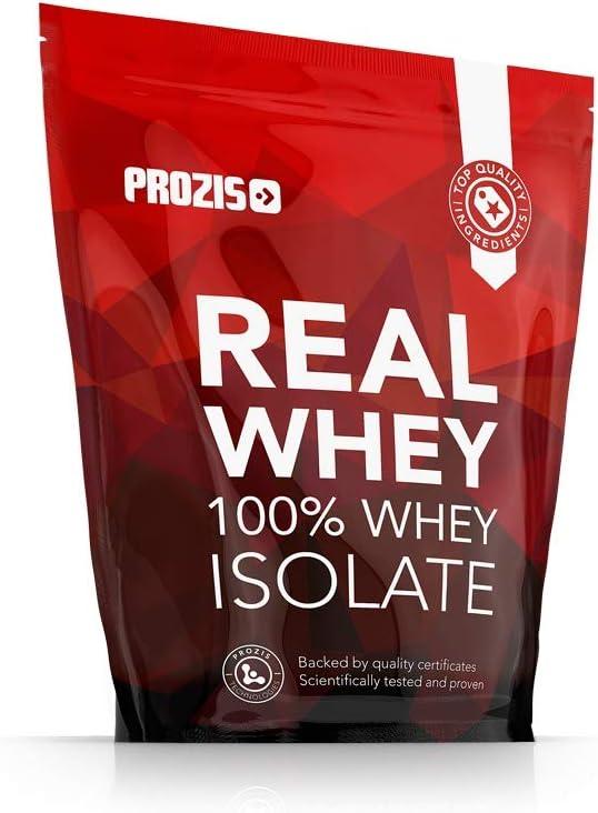 Prozis 100% Real Whey Isolate Proteína para Pérdida de Peso, Recuperación Muscular y Culturismo, Contenido Mínimo de Grasa, Galletas y Crema - 1000g