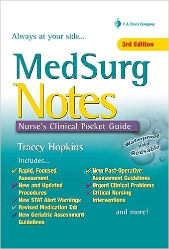 Med surg notes nurses clinical pocket guide tracey hopkins rn bsn med surg notes nurses clinical pocket guide tracey hopkins rn bsn 9780803626850 medical surgical amazon canada fandeluxe Gallery