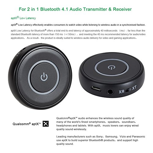 Giveet Bluetooth V4.1 Transmitter and Receiver with aptX Low Latency, Wireless Bluetooth Audio Streaming Adapter for TV, PS4, XBOX, PC, Headphones, Home Sound Car Stereo Speaker with 3.5mm or RCA Jack by Giveet (Image #7)