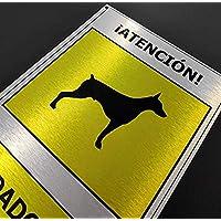 """Cartel""""cuidado con el perro"""", aluminio alta calidad"""