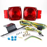 """Lumitronics Submersible Over 80"""" Universal Mount Combination Trailer Tail Lights Kit. Great For Trailers, Campers, or RVs"""