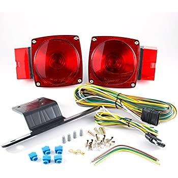 Amazon blazer c6423 square trailer light kit red automotive lumitronics submersible over 80 universal mount combination trailer tail lights kit great for trailers sciox Choice Image