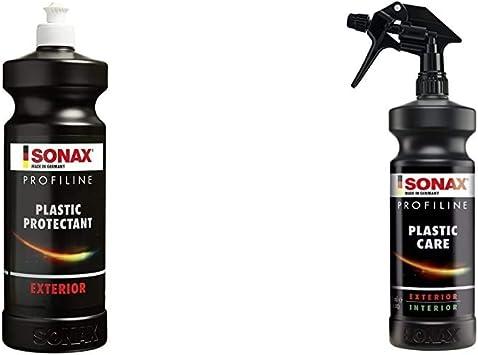 Sonax Profiline Plastic Protectant Exterior 1 Liter Kunststofftiefenpflege Für Kunststoffteile Profiline Plasticcare 1 Liter Frischt Auf Pflegt Und Kaschiert Verkratzungen Auf Kunststoff Auto