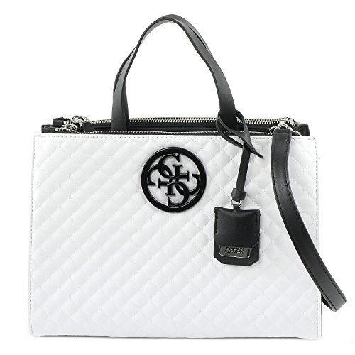 GUESS G Lux Carryall Status Tote Bag, White Multi