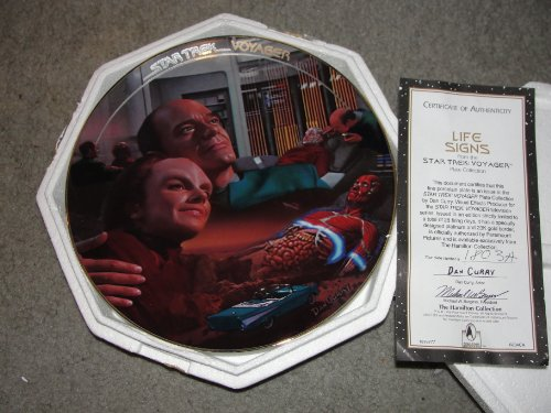 - 1996 Star Terk Voyager Life Signs Hamilton Collector Plate