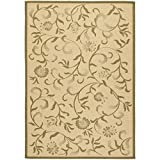 Cheap Safavieh Martha Stewart Collection MSR4251-14 Cream and Green Runner Rug (2'7 x 8'2)