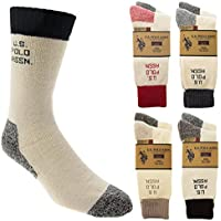 8-Pack U.S. Polo Assn Mens Cushioned Boot Socks (Multi Colors)