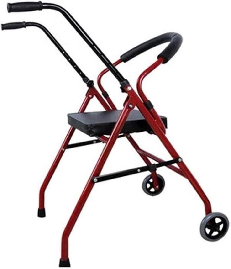ZTBXQ Andador de Viaje Ligero Andador de Andador Andador de Repuesto Cable de Freno Altura Rueda Ajustable con Ayuda de Movilidad del Asiento Carro de Carrito de Compras para Anciano