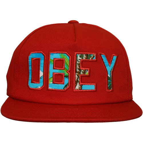 con Wharf Dark Obey Hat hombre Gorra diseño para plana Red de visera R1wFaTq17