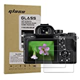 Screen Protector for Sony Alpha A9 A9II A7RIV A7RIII A7III A7RII A7SII A7II, Macolink Glass Tempered Film for DSC-RX100M7/6/5/4/3/2 RX10M4/3/2 RX1RII RX1R RX1 (2 Pack)