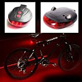 Electomaniatm 5 Led Tail Light With Twin Laser Road Safety Lights For Bikes