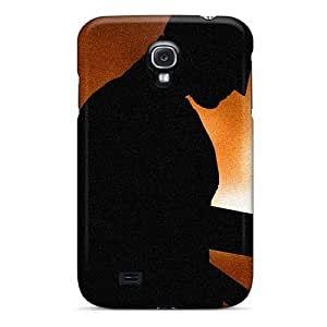 New Premium QxTnYYi5113bDvoL Case Cover For Galaxy S4/ Batman Silhouette Black & Orange Protective Case Cover