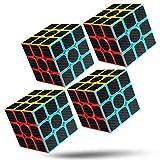 cfmour Rubiks Cube Speed Cube 3x3x3 Magic Carbon