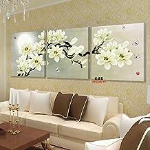3 panel wall art hd print canvas prints cuadros decoracion flores cheap modern paintings poster NO FRAME (50x50cm No frame)