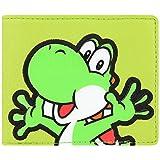 Super Mario Nintendo Yoshi Bi-Fold Wallet Green