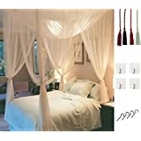 MOSQUITO NET For Double Bed By Comtelek Four Corner Post Elegant Mosquito Net Canopy