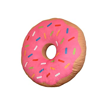 Amazon.com: Yummy Donut Pillow - Cojín de peluche con forma ...