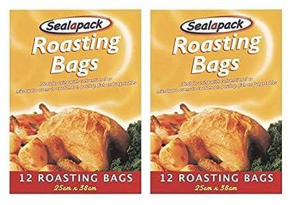 24 bolsas para asar pavo, carne y pollo, bolsas para cocinar en horno de 25 x 38 cm marca Sealapack