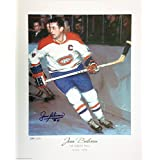Jean Beliveau Autographed Limited Edition Lithograph - Montreal Canadiens