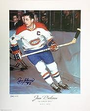 Jean Beliveau Autographed Limited Edition Lithograph - Montreal