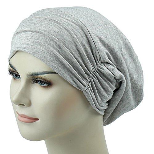 Frizzy Hair Headcover Bed Hats Sleep Cap Satin Slouchy Bonnet Curly Headwear - High Quality Headcovers