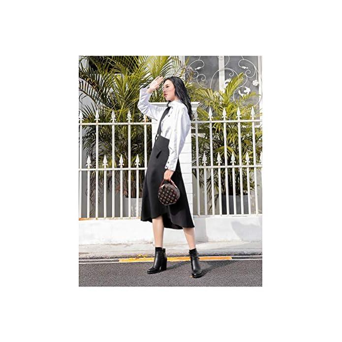 Sara Rain Bootsautunno E Inverno Nuove Scarpe Da Donna Tacco Alto Spessore Con Cerniera Moda Fibbia Stivali